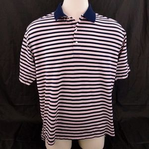 Alan Flusser Striped Polo S/S Performance Golf
